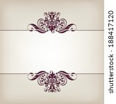 vector vintage ornate border... | Shutterstock .eps vector #188417120