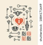 vector greeting card or banner... | Shutterstock .eps vector #1884171649