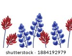 indian paintbrush and...   Shutterstock .eps vector #1884192979