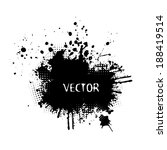 ink splat overlayed by halftone ... | Shutterstock .eps vector #188419514