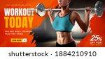 energetic fitness training...   Shutterstock .eps vector #1884210910