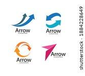 arrow illustration logo vector... | Shutterstock .eps vector #1884228649
