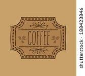 coffee design over brown...   Shutterstock .eps vector #188423846