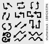 simple arrow set and arrow...   Shutterstock .eps vector #1884265396