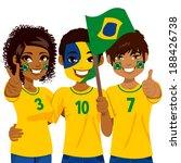 young brazilian soccer fans...