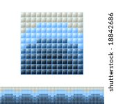 aqua style mosaic 002 | Shutterstock .eps vector #18842686