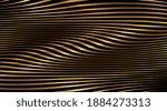 gold 3d wave on black... | Shutterstock .eps vector #1884273313