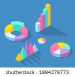 set of business statistics... | Shutterstock .eps vector #1884278773
