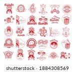 bundle of happy navratri...   Shutterstock .eps vector #1884308569