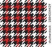 goose foot. christmas pattern... | Shutterstock .eps vector #1884334429