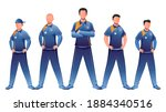 faceless character of cricket... | Shutterstock .eps vector #1884340516