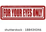 stamp with text for your eyes... | Shutterstock .eps vector #188434346