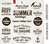 retro elements for summer... | Shutterstock .eps vector #188435534