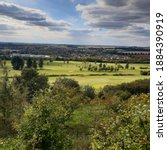 Small photo of View from Warden Hill in Warden Hills Nature reserve overlooking golf course in Luton, Bedfordshire
