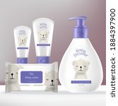 vector baby toiletries or... | Shutterstock .eps vector #1884397900
