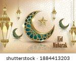 ramadan kareem or eid mubarak... | Shutterstock .eps vector #1884413203