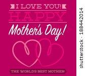 happy mother's day typographic... | Shutterstock .eps vector #188442014