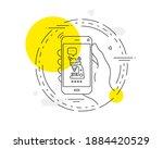 microscope line icon. mobile...   Shutterstock .eps vector #1884420529
