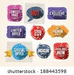 doodle promo elements. eps10. | Shutterstock .eps vector #188443598