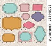 stamp design over beige... | Shutterstock .eps vector #188445713