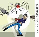 com medo,alarme,sistema de alarme,alerta,bandido,máscara de bandido,assaltante,alarme de assaltante,roubo,câmera,captura,pés frios,lanterna,susto,bem humorado