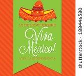retro style viva mexico ... | Shutterstock .eps vector #188446580