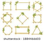 Bamboo Cartoon Frames. Steam...