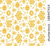 Seamless Pattern With Bees And...
