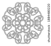 ornament of swirling lines.... | Shutterstock .eps vector #1884480220