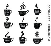 coffee menu with a set of... | Shutterstock .eps vector #188448770