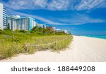 Scenic Miami Beach On A Sunny...