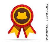 cat award badge ribbon vector... | Shutterstock .eps vector #1884506269