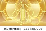 beauty product ad design  gold...   Shutterstock .eps vector #1884507703