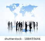 silhouettes of business people... | Shutterstock . vector #188455646
