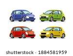 car vector template on white... | Shutterstock .eps vector #1884581959