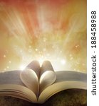 pages of book in shape of love... | Shutterstock . vector #188458988