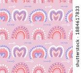 abstract modern boho rainbows...   Shutterstock .eps vector #1884617833