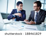 image of two young businessmen... | Shutterstock . vector #188461829