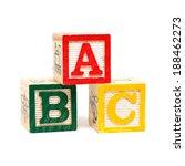 wooden alphabet blocks    Shutterstock . vector #188462273