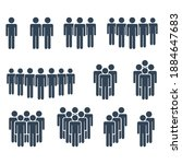 people icon set. avoid crowds...   Shutterstock .eps vector #1884647683