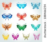 vector butterfly collection | Shutterstock .eps vector #188466254