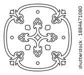 ornament crosses of swirling... | Shutterstock .eps vector #1884671080