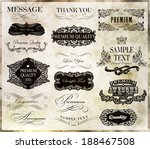 calligraphic design elements... | Shutterstock .eps vector #188467508