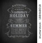 chalk elements for summer... | Shutterstock .eps vector #188468018