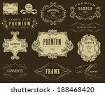 calligraphic design elements... | Shutterstock .eps vector #188468420