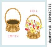 full and empty opposite... | Shutterstock .eps vector #1884687556