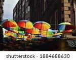 Umbrellas In Rainbow Colors...