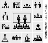 silhouette business conference... | Shutterstock . vector #188474333
