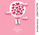 valentine's day greeting card... | Shutterstock .eps vector #1884744790