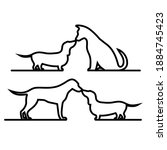 pets outline icon set...   Shutterstock . vector #1884745423